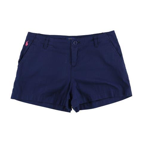 Ralph Lauren Womens Classic Flat Front Casual Chino Shorts