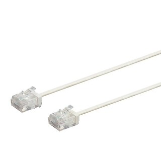 Micro SlimRun Cat6 Ethernet Patch Cable 30ft White