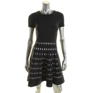 MICHAEL Michael Kors Womens Wear to Work Dress Knit Laser Cut - XS