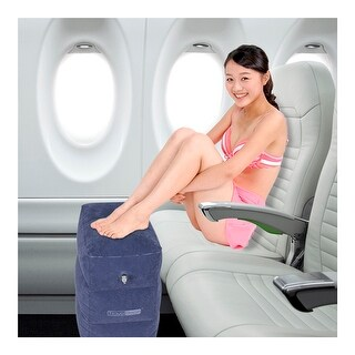 Inflatable Travel Footrest, Leg Rest Travel Pillow - Kids' Bed to Lay Down Flat on Flights Blue Color