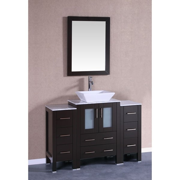 Shop Bosconi A124sqcm2s 48 Free Standing Vanity Set With Wood