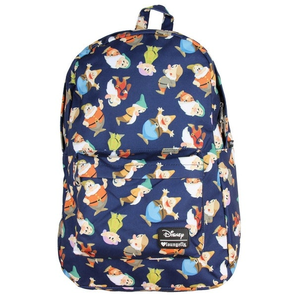 4d1efcf00b5 Disney Snow White & Seven Dwarfs All Over Print Backpack by Loungefly