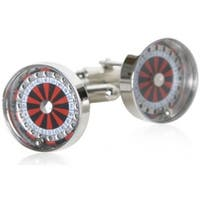 Roulette Wheel Gambling Casino Red Black Las Vegas  Cufflinks