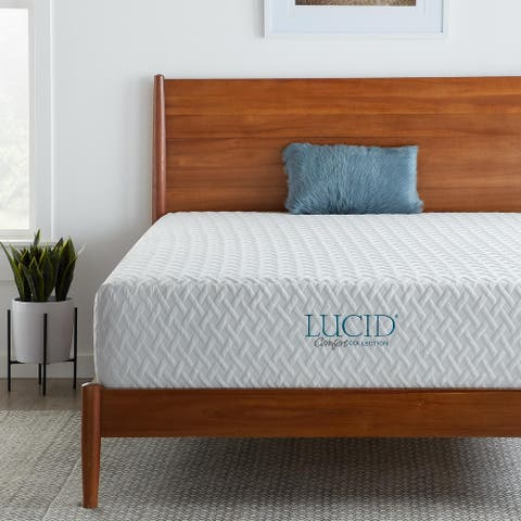 LUCID Comfort Collection 12-inch Plush Gel Memory Foam Mattress