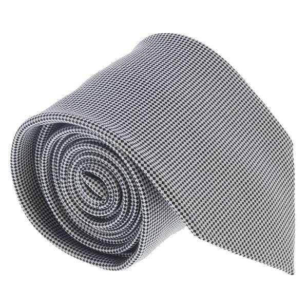 b33ac333 Ermenegildo Zegna Grey-Black Micro Neat Tie - 60-3