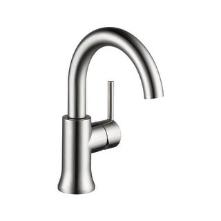 Delta 559HA-DST Trinsic 1.2 GPM Single Hole Bathroom Faucet - Includes Metal Pop-Up Drain Assembly