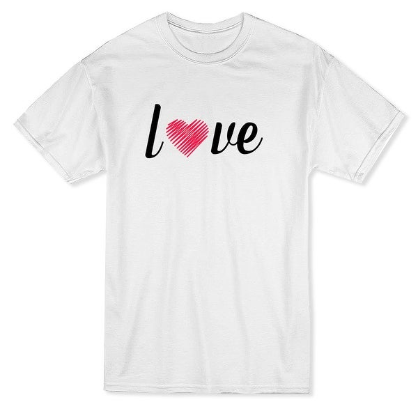 b8f1dfb445b60 Valentine's Day Love Word Graphic Men's T-shirt