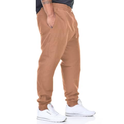 Fly Society Big Men's Stretch Twill Cargo Jogger Pant