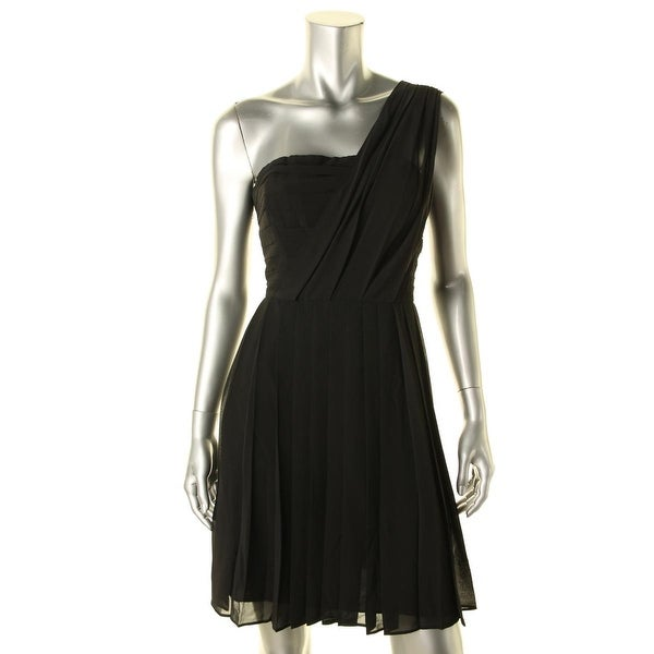 Rachel Rachel Roy Womens Cocktail Dress Chiffon Pleated
