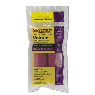 """Whizz 51012 Velour Roller Covers, 4"""", 2 Pack"""