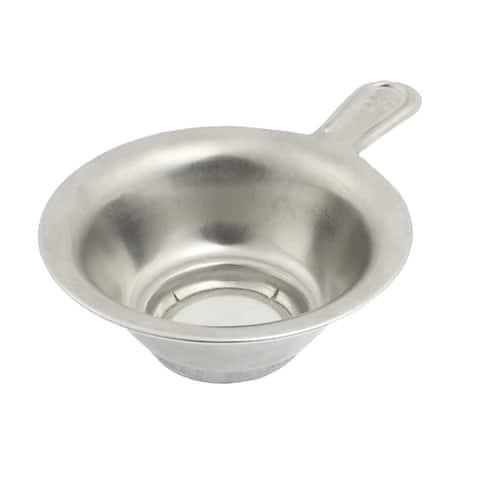 "Unique Bargains 1.1"" Depth Stainless Steel Mesh Bottom Tea Bowl Strainer"