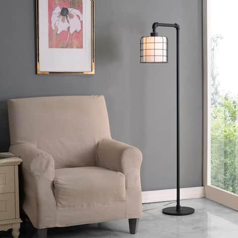 Grid Iron Industrial Floor Lamp