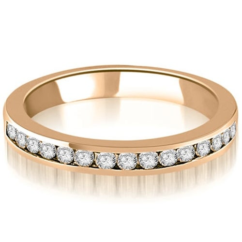 0.30 cttw. 14K Rose Gold Round Diamond Classic Channel Wedding Band