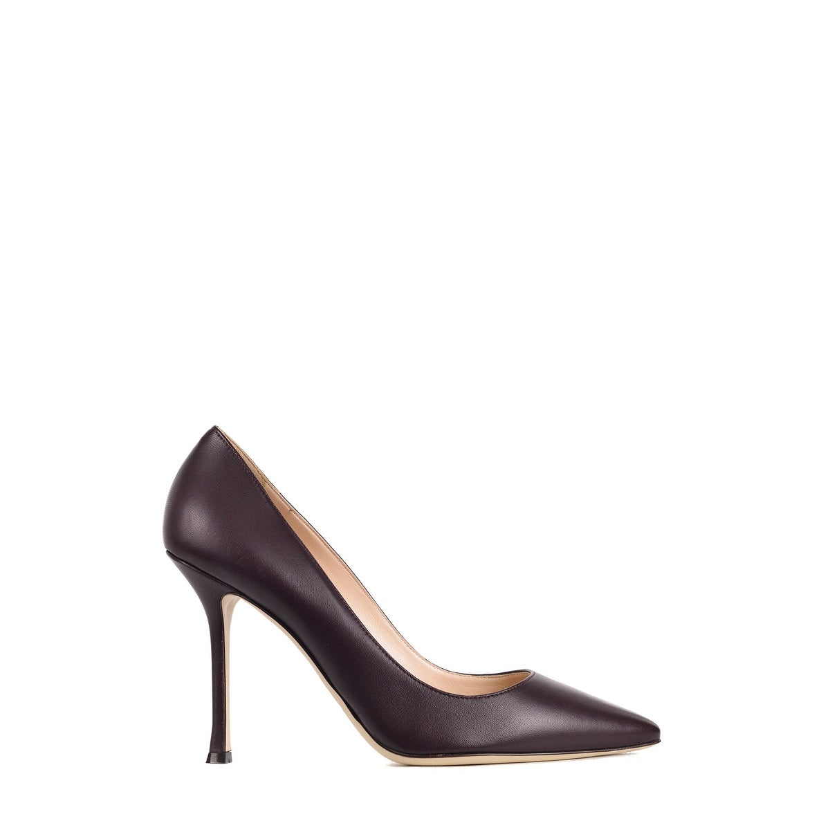 los angeles 53ce1 1f2d4 Sergio Rossi Womens Brown Leather Scarpe Donna Classic Pumps