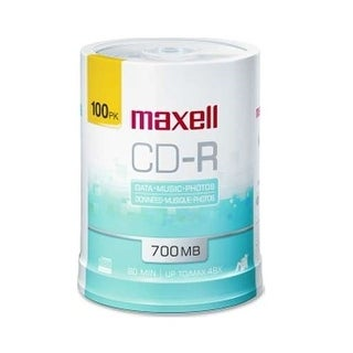 Maxell 648720 Cd-R 700Mb Write Once White Inkjet Printable Recordable Compact Disc