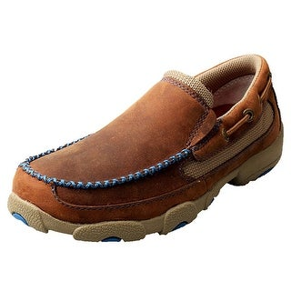 Twisted X Casual Shoes Boys Kids Mocs Slip On Oiled Saddle YDMS001