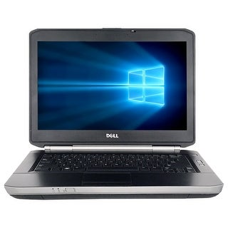 "Refurbished Laptop Dell Latitude E5430 14.0"" Intel Core i3-3110M 2.4GHz 4GB DDR3 250GB Windows 10 Pro 1 Year Warranty - Black"
