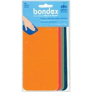 "Orange; Red; Green & Royal - Bondex Nylon Repair Fabric 3""X7"" 4/Pkg"