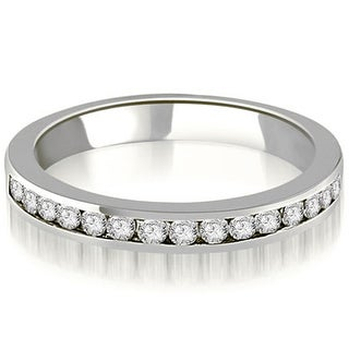 0.30 ct.tw 14K White Gold Round Diamond Classic Channel Wedding Band