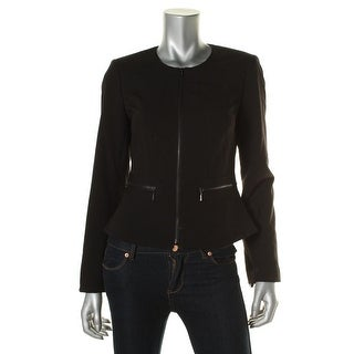 Calvin Klein Womens Cropped Peplum Suit Jacket