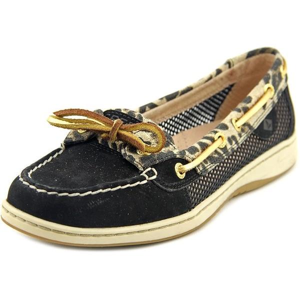 Sperry Top Sider Angelfish Women Moc Toe Canvas Black Boat Shoe