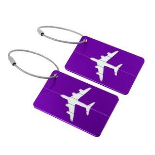 2pcs Aluminium Metal Travel Luggage Tags