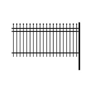 Link to ALEKO Rome Style Self Unassembled Steel Fence 8' x 4' Black Similar Items in Yard Care