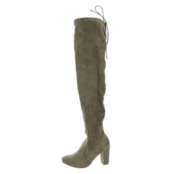 Chinese Laundry Womens Berlin Over-The-Knee Boots Faux Suede Heels