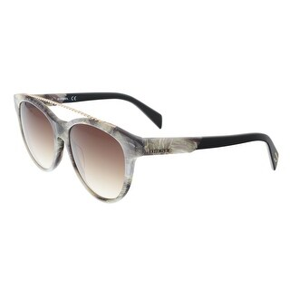 Diesel DL0189 20K Grey Marble Round Sunglasses - 54-16-140