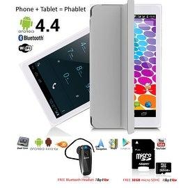 Indigi® Factory Unlocked 3G (2-in-1) SmartPhone & TabletPC w/ Built-In SmartCover + Bundle Included (Grey)