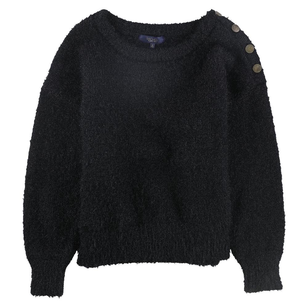 Rachel Rachel Roy Womens Elle Beige Metallic Pullover Sweater Top XL BHFO 4496