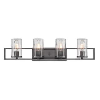 Designers Fountain 86504 Elements 4 Light Bathroom Vanity Light - Charcoal