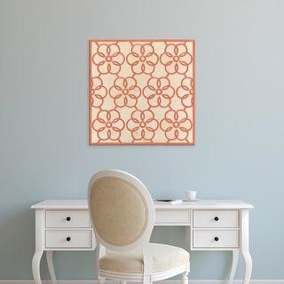 Easy Art Prints June Erica Vess's 'Floral Trellis VIII' Premium Canvas Art