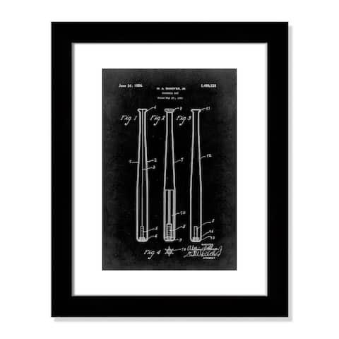 Vintage Baseball Bat Patent - 20.5'' x 16.5''