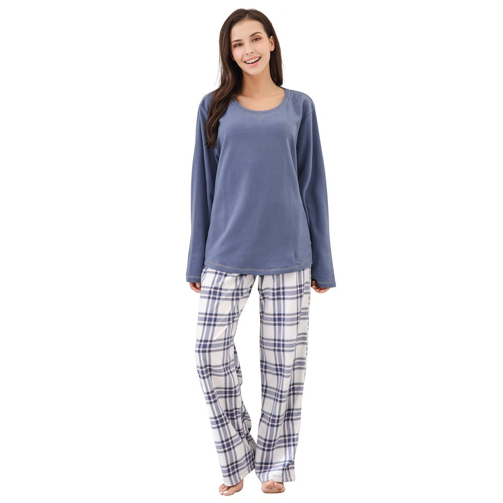 Richie House Womens Soft and Warm Fleece Robe with Zipper