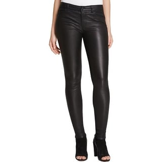 Vince Womens Leather Pants Lambskin Skinny