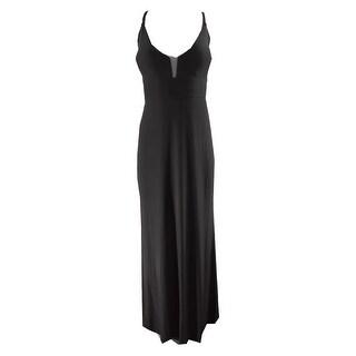 Calvin Klein Black Strappy V-Neck Gown 4