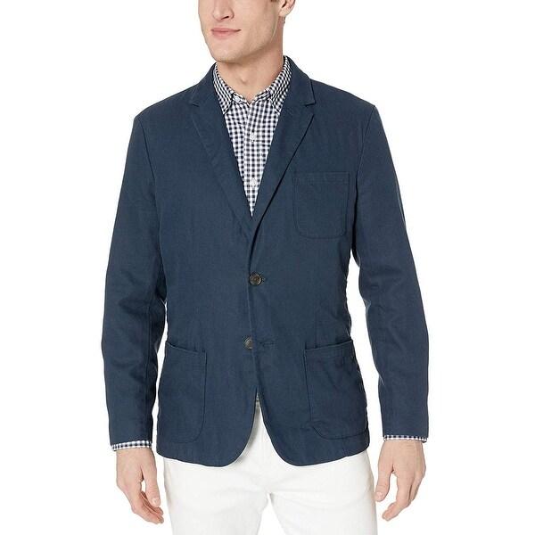 Goodthreads Men's Standard-Fit Linen Blazer, Navy, XXX-Large. Opens flyout.