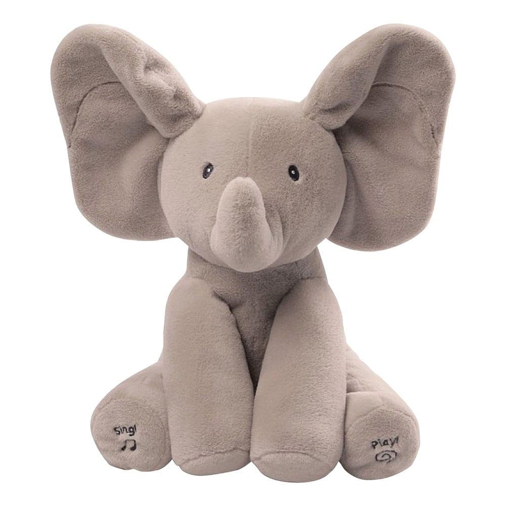 Animated Singing Elephant Stuffed Baby Toy Peek-a-Boo Plush Animal Play Music US