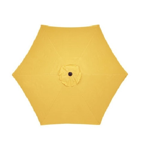 Living Accents UM90BKOBD33YLW Market Umbrella, 9', Yellow