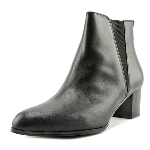 Alfani Womens Vitaa Leather Almond Toe Ankle Chelsea Boots