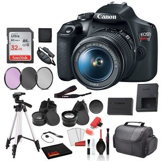 Canon EOS Rebel T7 Digital SLR Camera with 18-55mm Lens (2727C002) Professional package deal Bundle 'SanDisk 32gb SD Card + 3PC