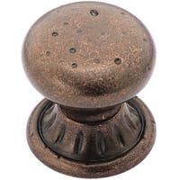 Amerock BP4485RBZ Ambrosia Euro Stone Circle Eclectic Knob, Rustic Bronze