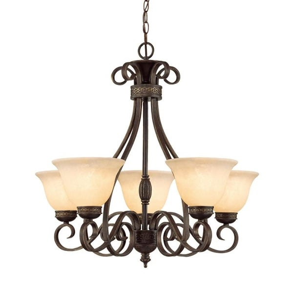 Millennium Lighting 7165 Alma 5 Light Single Tier Chandelier