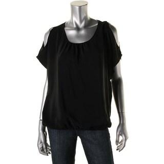Joie Womens Nimah Pullover Top Silk Elastic Hem