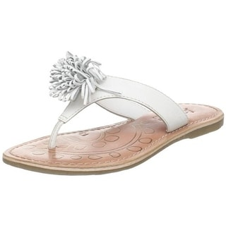 Academie Studio Girls Pom Pom Too Little Kid Leather Thong Sandals - 13 medium (b,m)