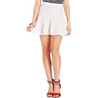 Jessica Simpson Womens Juniors Flare Skirt Waffle Mini