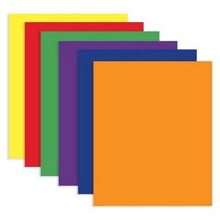 Bazic 3144 Asst. Color 2-Pockets Portfolios Pack of 100