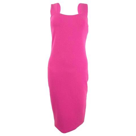 Betsey Johnson Women's Square-Neck Midi Sheath Dress