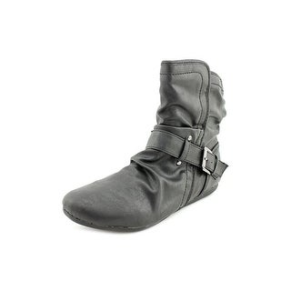 Report Evann Women Round Toe Synthetic Black Ankle Boot